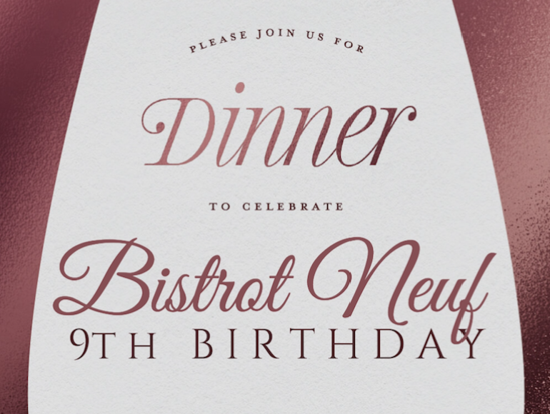 Bistrot Neuf Event Birthday September