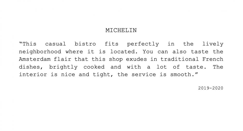 Michelin Bistrot Neuf Amsterdam